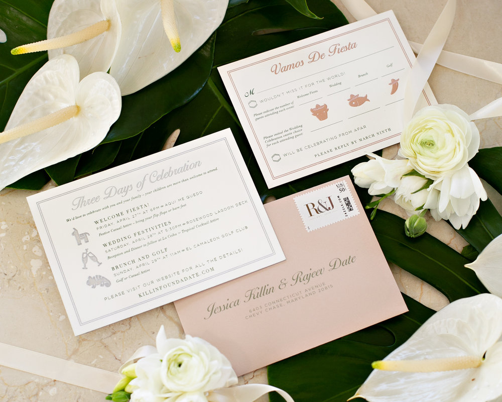 Example of the entire wedding weekend events on Jessica's details card.