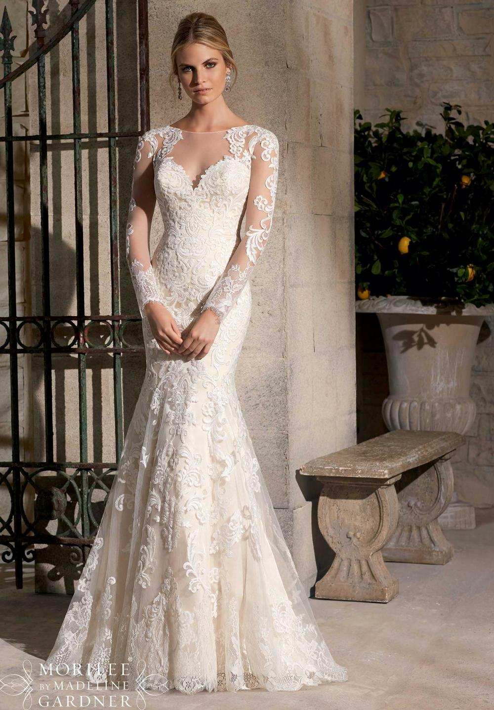 Sheath Wedding Dress By Mori Lee