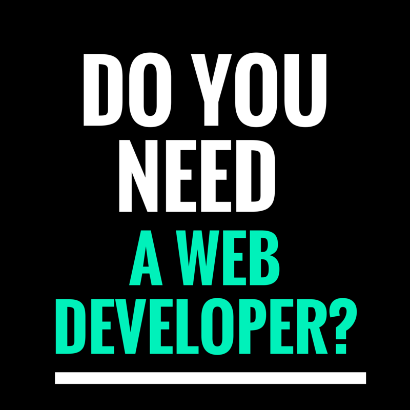 Do you need a web developer?