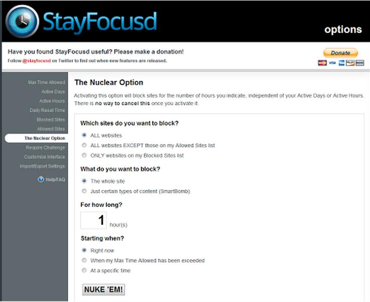 Stay focused screenshot