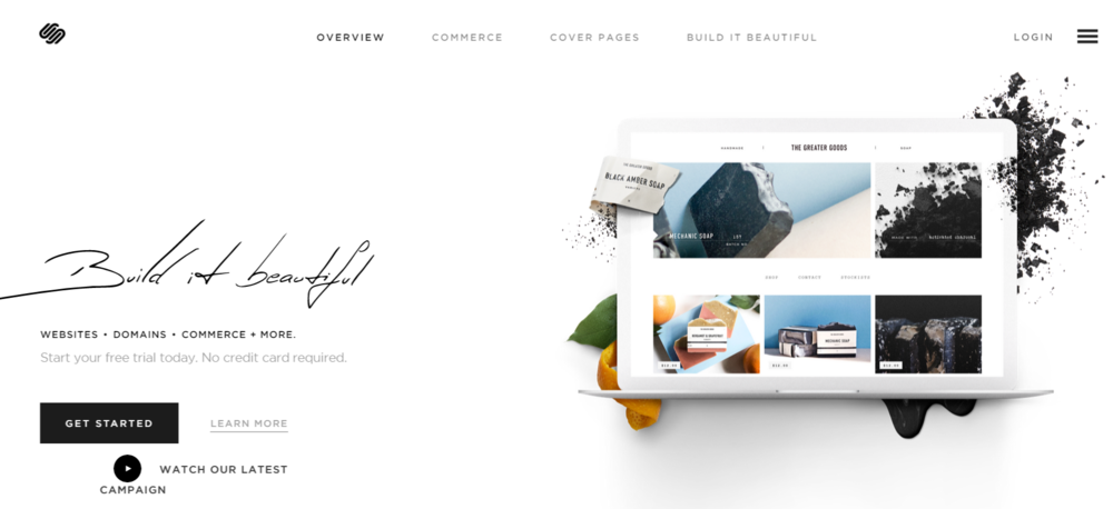 Squarespace - a hosted website builder