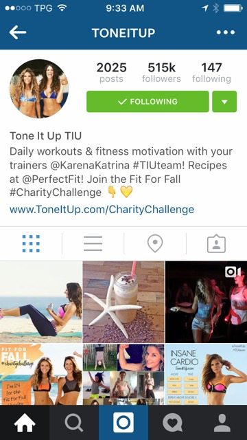 Tone it up on Insta