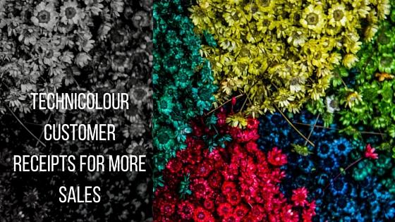 Go technicolour with your customer receipts