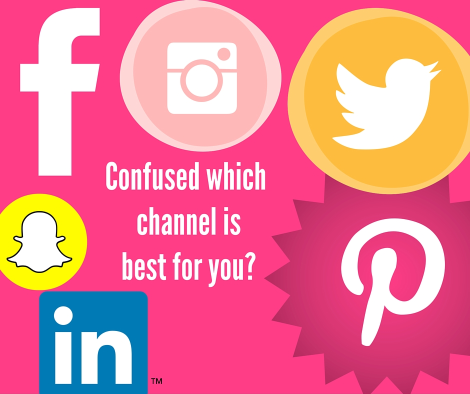Social media channels to choose from