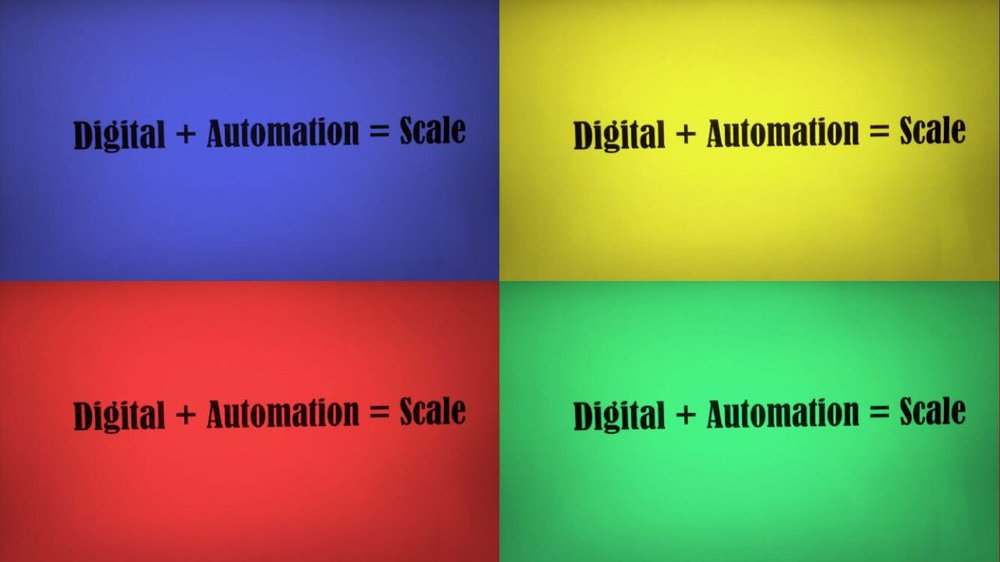 Digital and automation equals scale