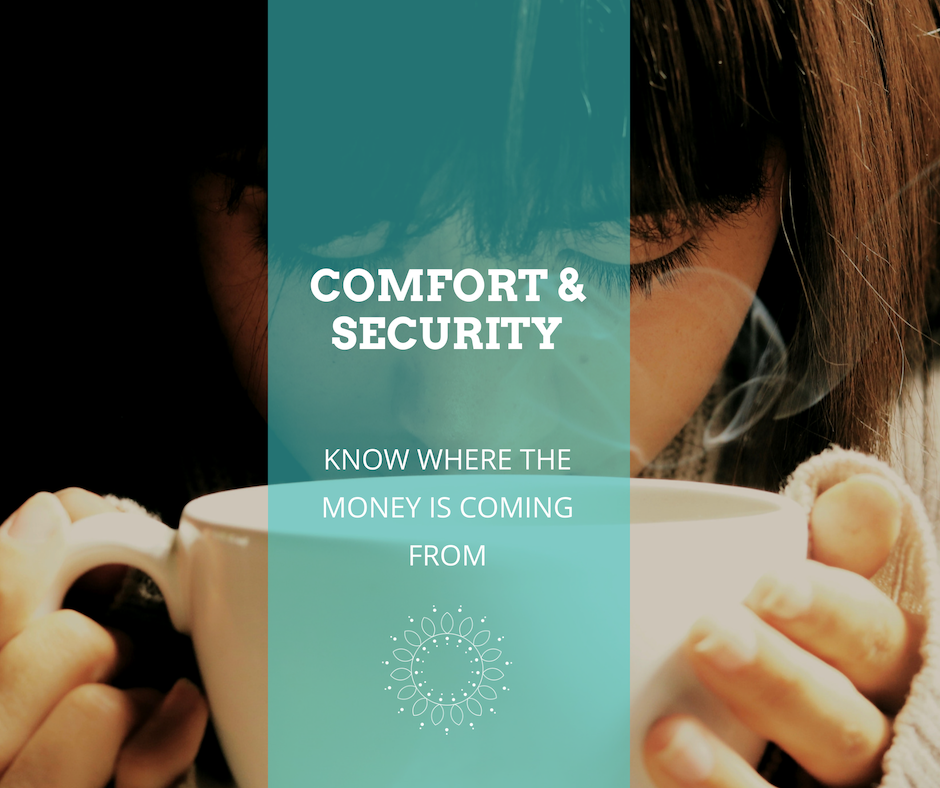 Your business should give you comfort and security, knowing where the money is coming from