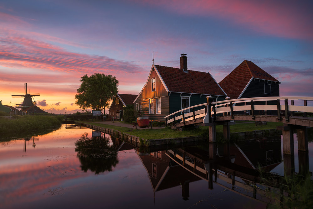 The famous picturesque cheese farm at Zaanse Schans - Netherlands