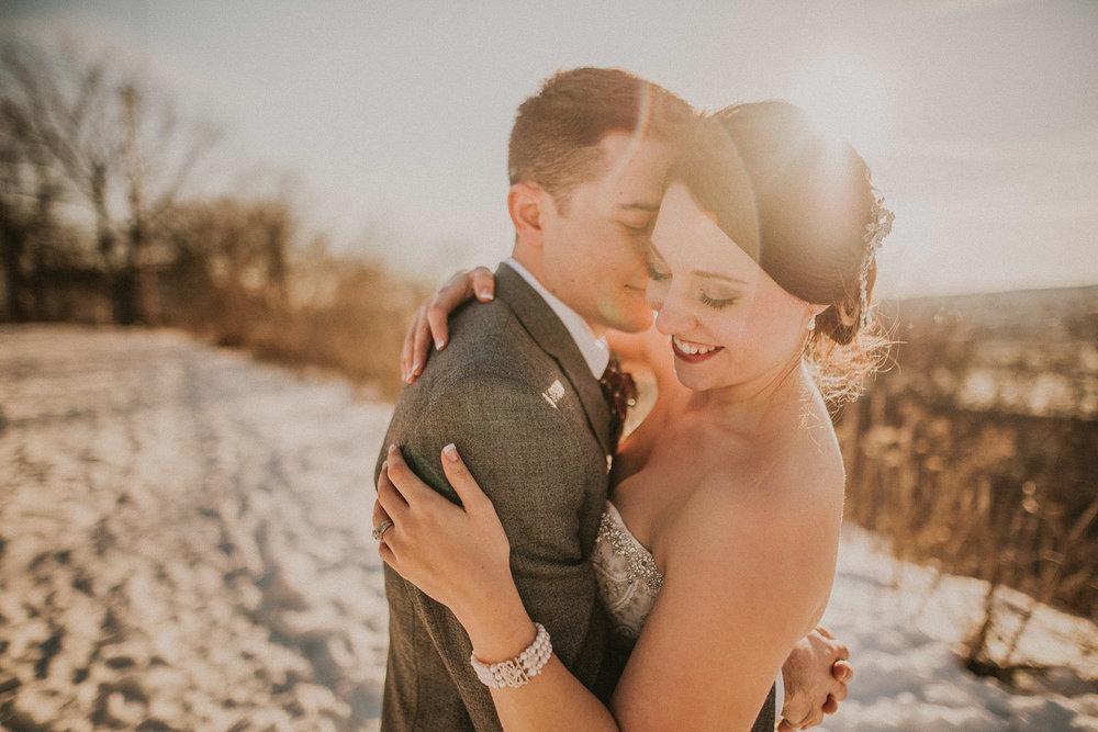 EMILY + JOSHUA   WEST MICHIGAN WINTER WEDDING -