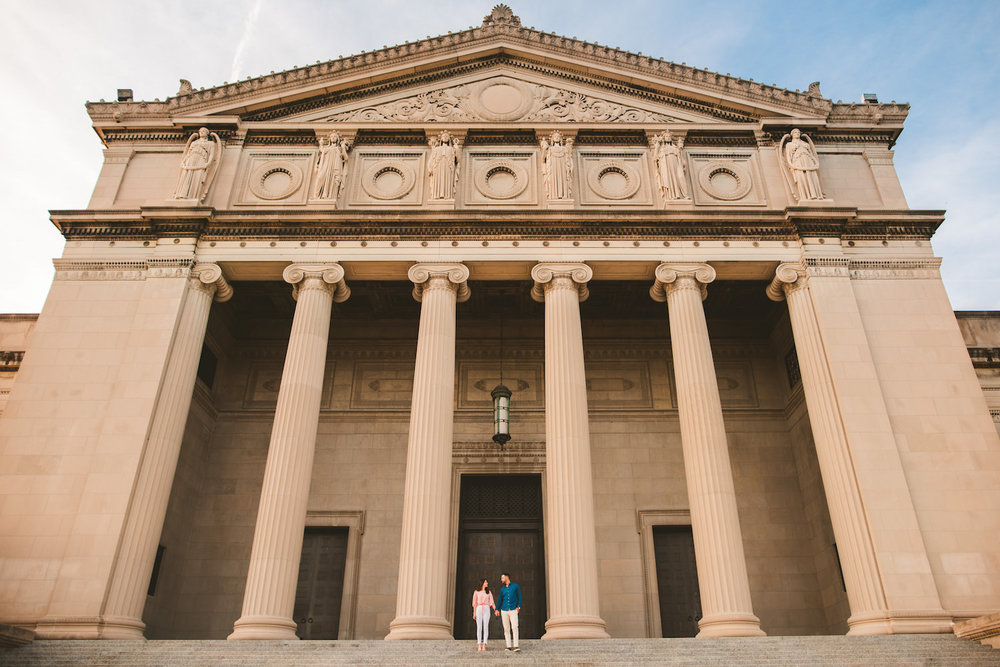 Downtown Chicago Engagement Photos - Museum of Science and Industry Session - Elizabeth and Dan -01.jpg