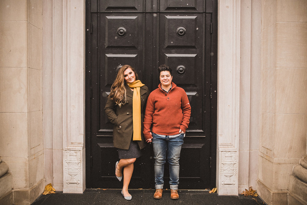 KATY + ASHLEY | DOWNTOWN GRAND RAPIDS, MI ENGAGEMENT SESSION -