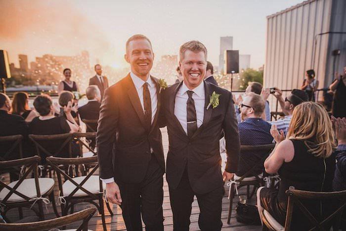 JUSTIN + PATRICK | DOWNTOWN DALLAS, TEXAS ROOFTOP WEDDING -