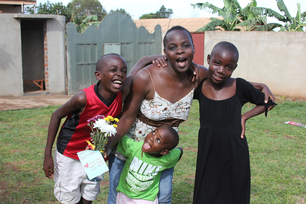 Mama Tendo and all the kids!