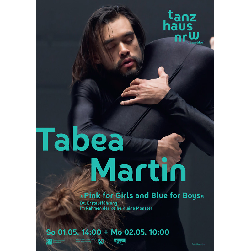 "For choreographer Tabea Martin. ""Pink for Girls and blue for Boys""."