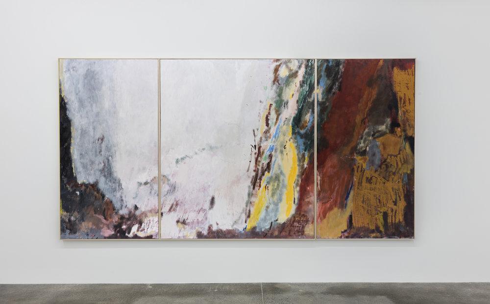 Mining for Bitcoins 2017   Oil on canvas 172 x 340 cm