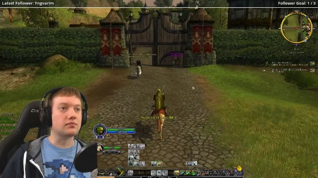 Aaaron from Don't Fight Ducks. An enjoyable LOTRO streamer.