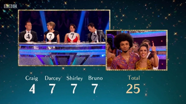 Strictly Week 7 Aston Score.JPG