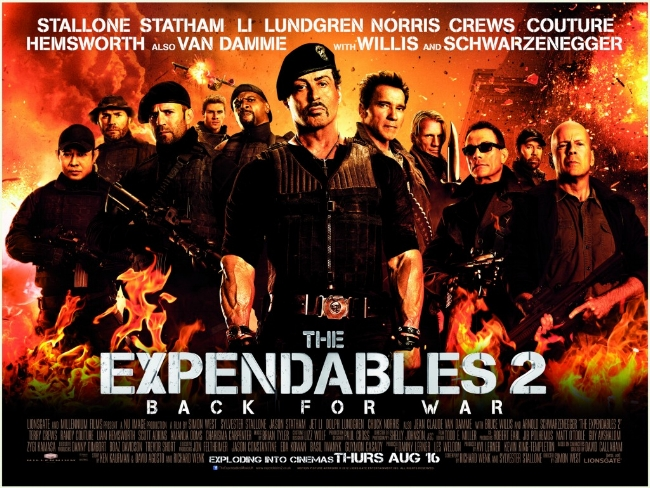 The Expendables 2 2012 Contains Moderate Peril