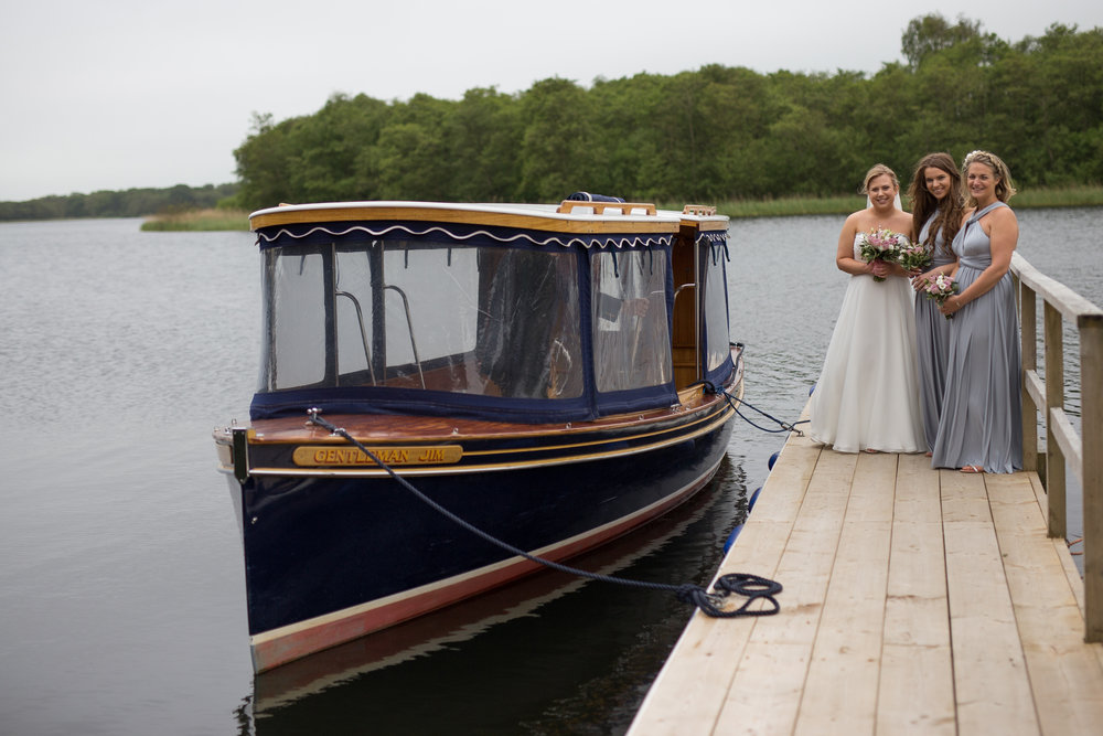 Bridal boat wedding car