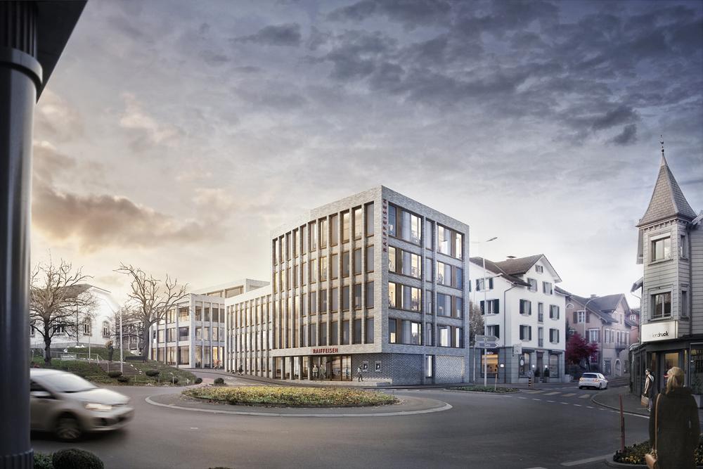 Wettbewerb Raiffeisenbank, Cham Büro Konstrukt