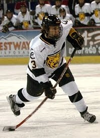 Lee Sweatt while playing for the Colorado College Tigers (2003-2007)