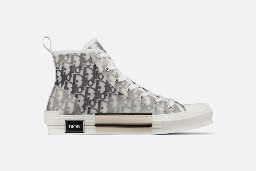 kaws x dior B23 High-Top Sneakers in Dior Oblique - Super clean canvas sneaker Silhouette from kaws x dior collection