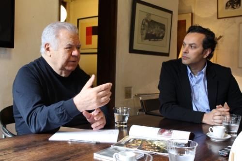 Arquiteto Jaime Lerner se reúne com o presidente do Conselho Estadual da Abrasel Paraná, Marcelo Pereira