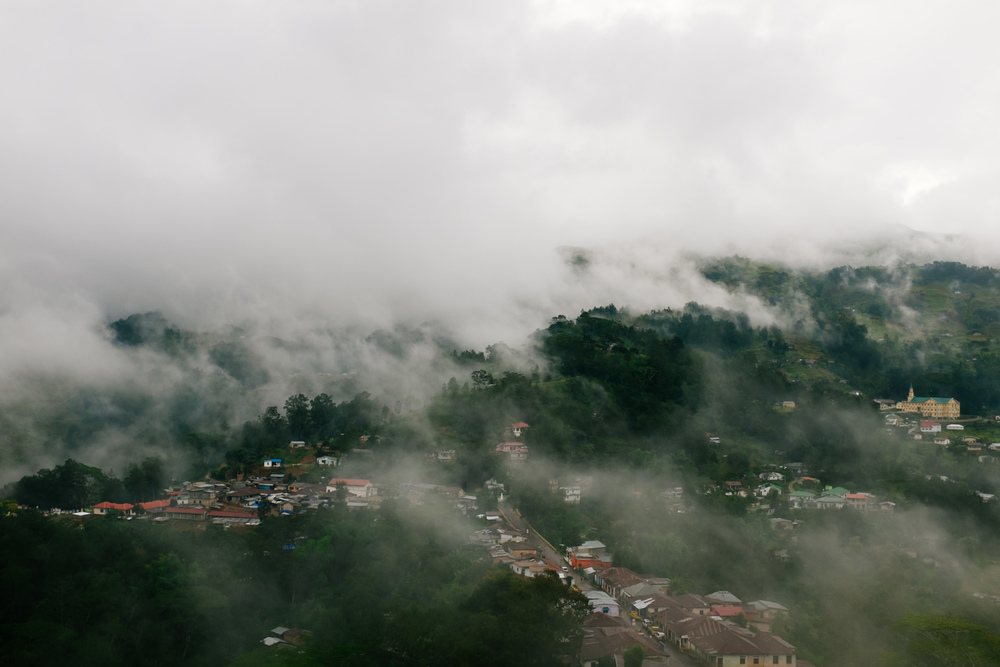 Maubisse under a mysterious mist