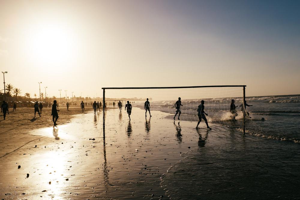 'The sunset game', São Luís, Maranhão, Brazil