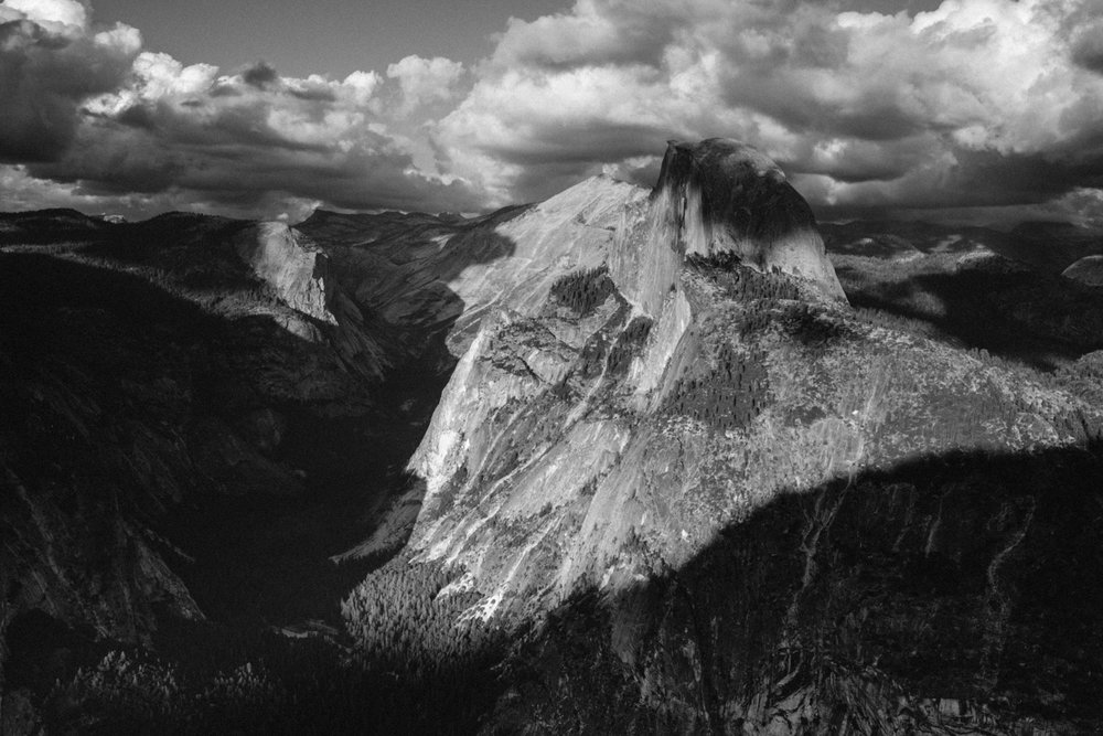 Half Dome in all its beauty, rising 5,000 feet above Yosemite valley