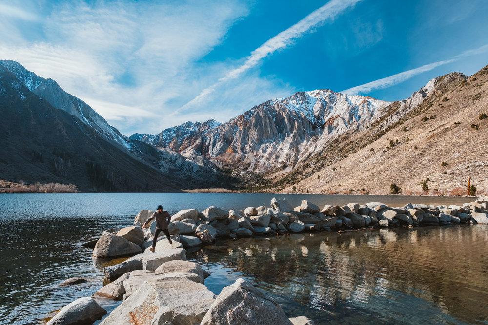 Convict lake, Eastern Sierras