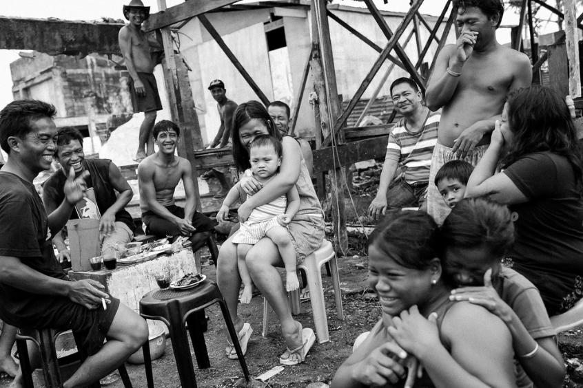 Um inesquecível almoço em Tacloban, Filipinas.