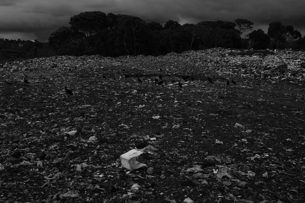 Waste left untreated on Itacaré's dump site, located at about 4 kilometers outside the city on the way to Ilhéus.