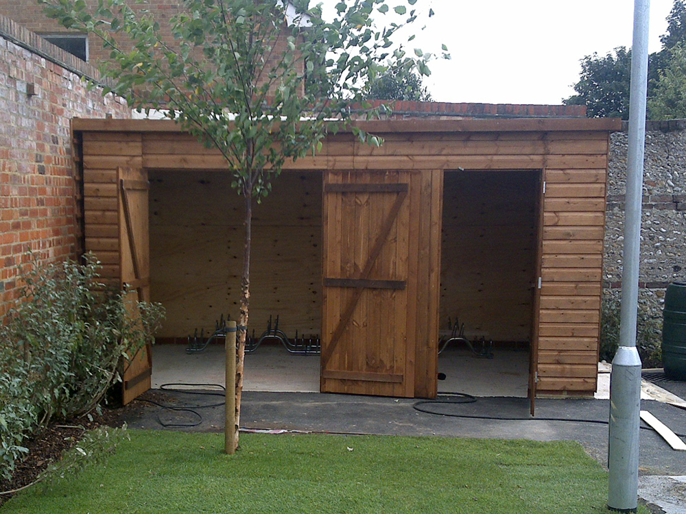 Garden storage solutions trojan timber for Canoe storage shed