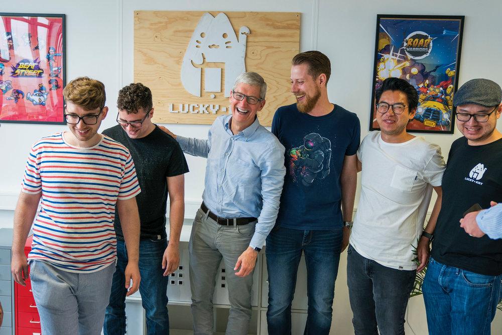 Apple's CEO Tim Cook visits Lucky Kat Studios
