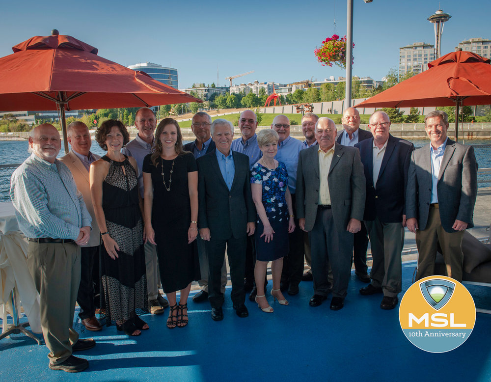 The MSL team gathered to celebrate 10 years of dedicated healthcare partnership in Seattle, WA.