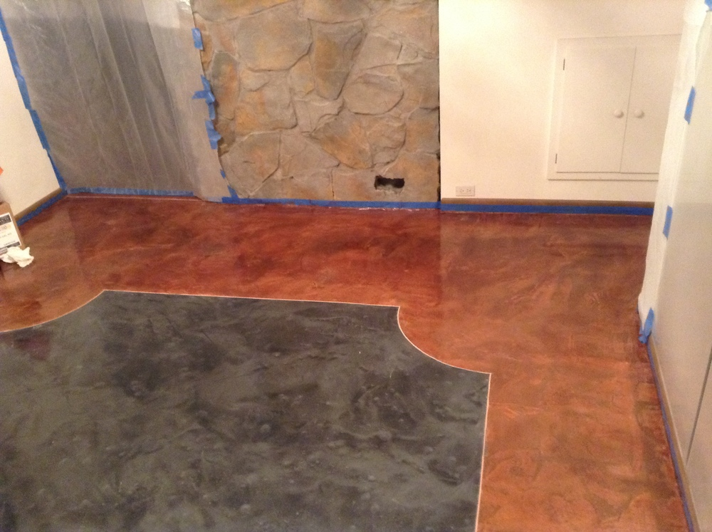 Epoxy on thin set concrete