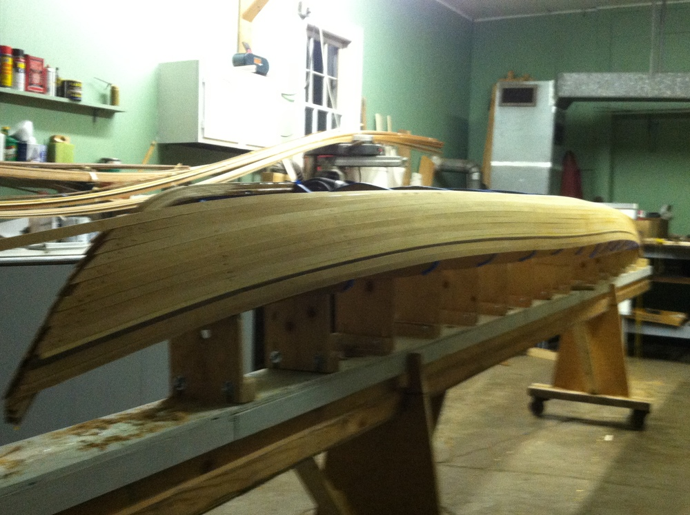 Stripping the hull stern