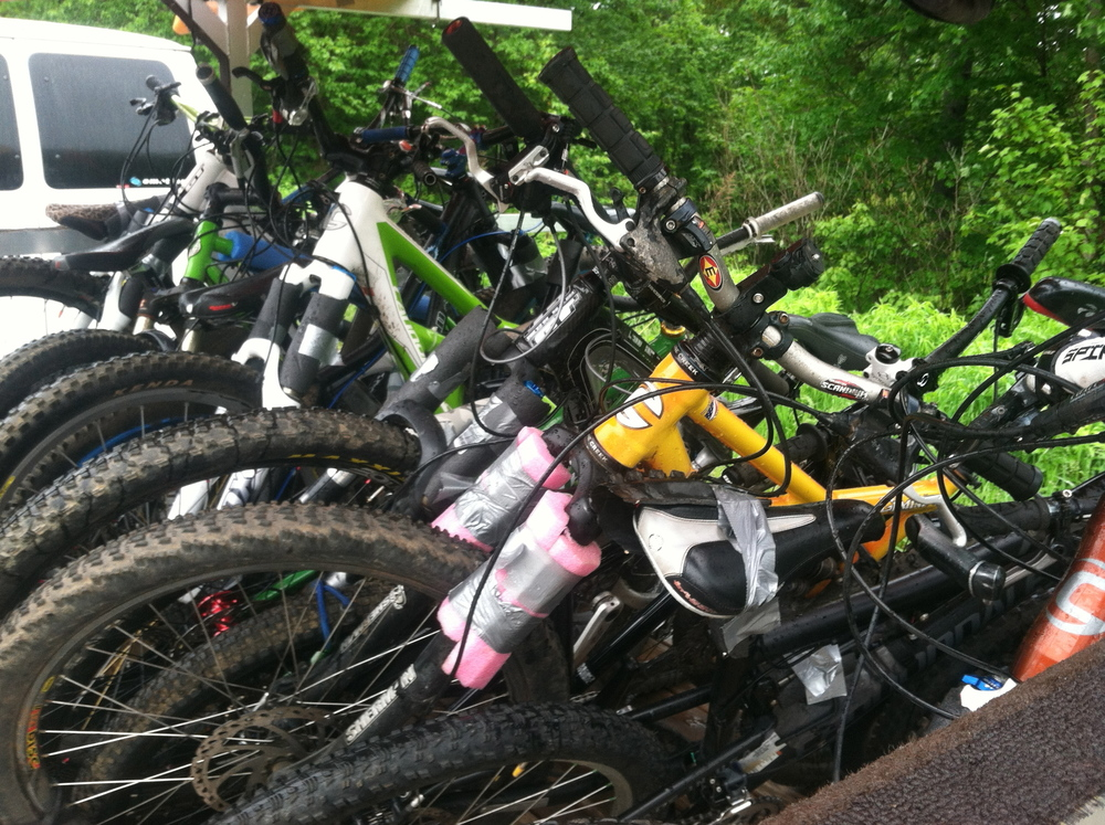 Bikes on the trailer