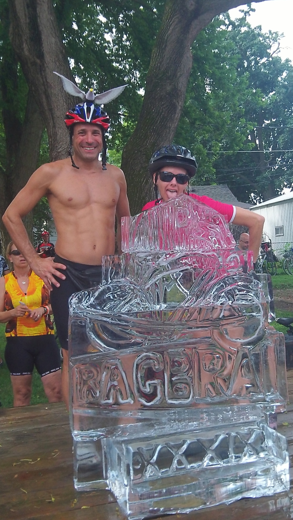 Bike Ice Sculpture