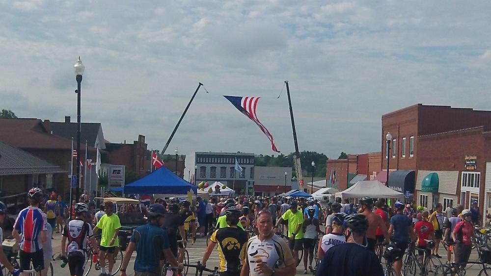 Giant Flag Cranes