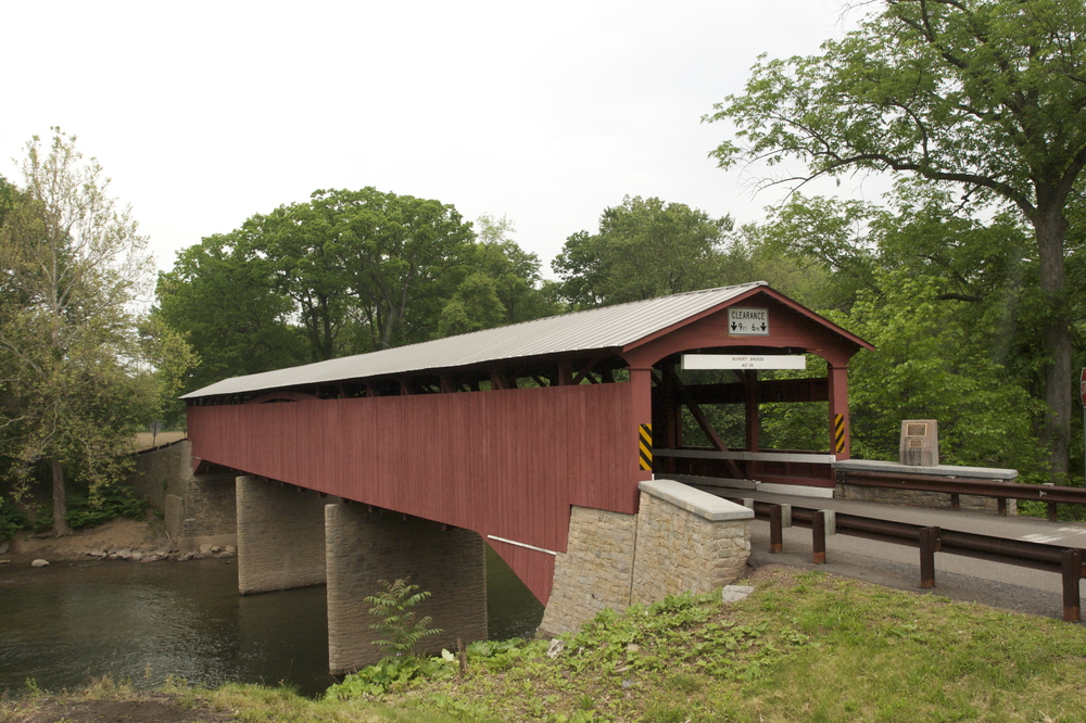 The Rupert covered bridge .