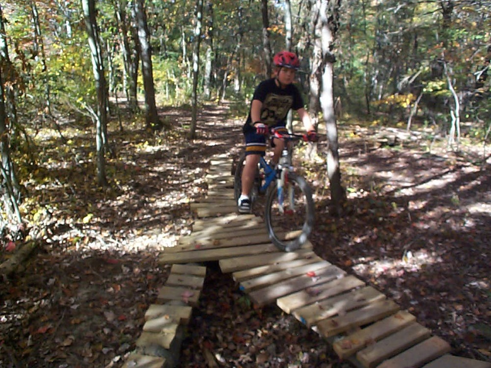 Mountain bike skills park