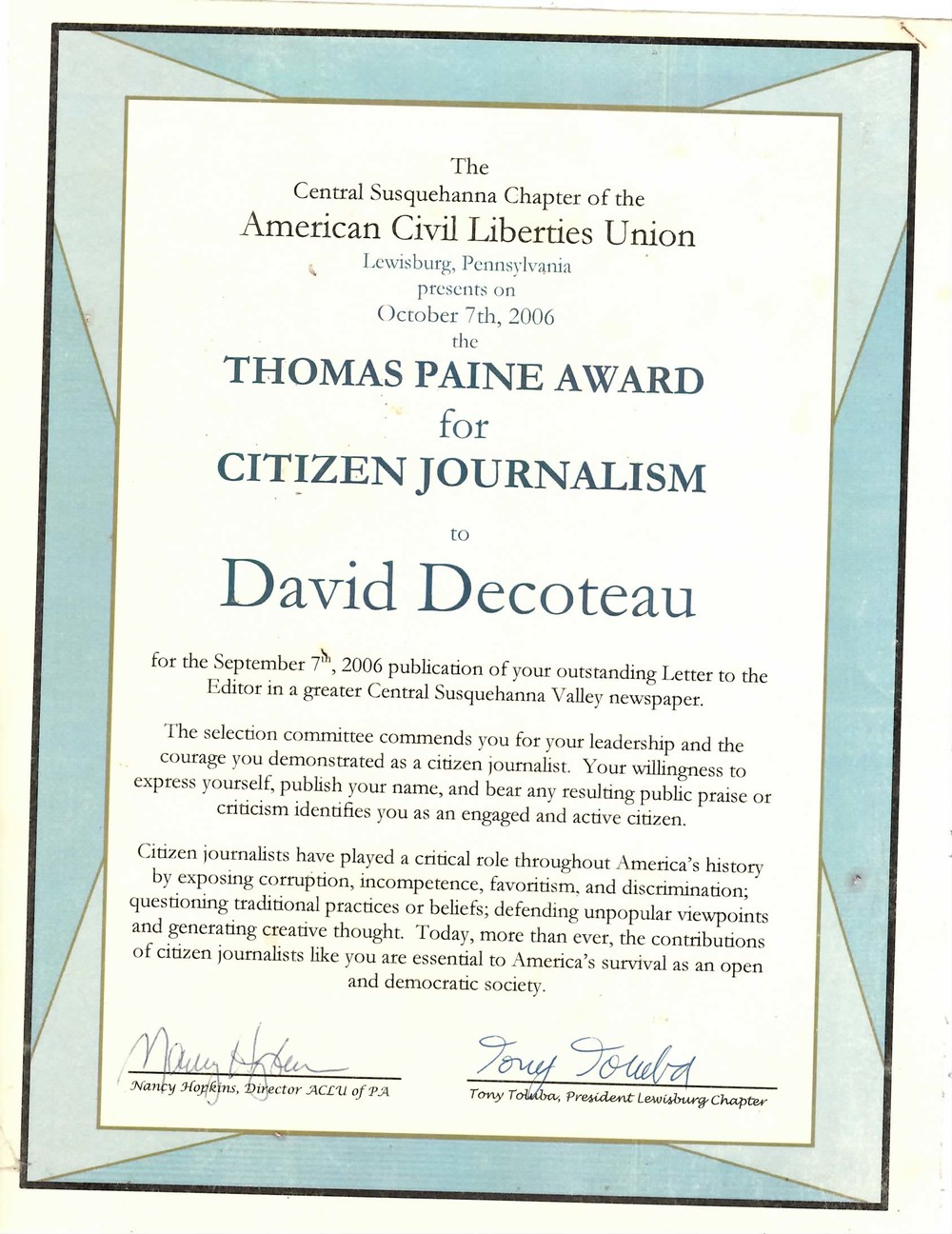 Thomas Paine Award.JPG