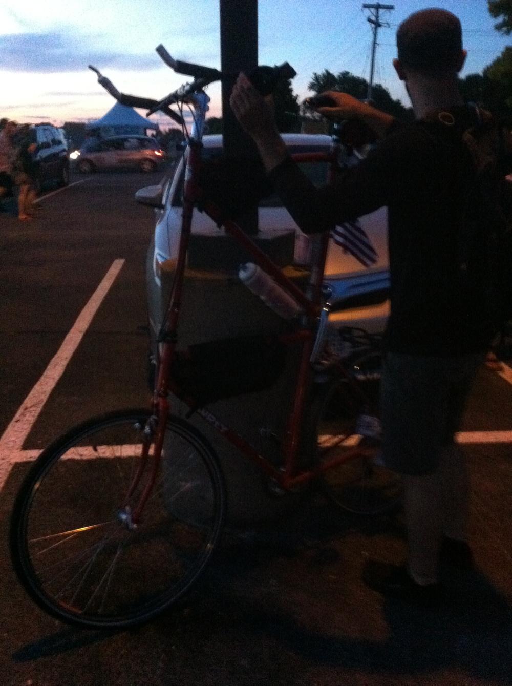 6' high bike.
