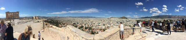 The Acropolis standing above Athens.  Antiquity to make you ponder.