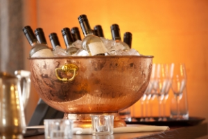 Wine bottles in ice bucket.156226487.jpg