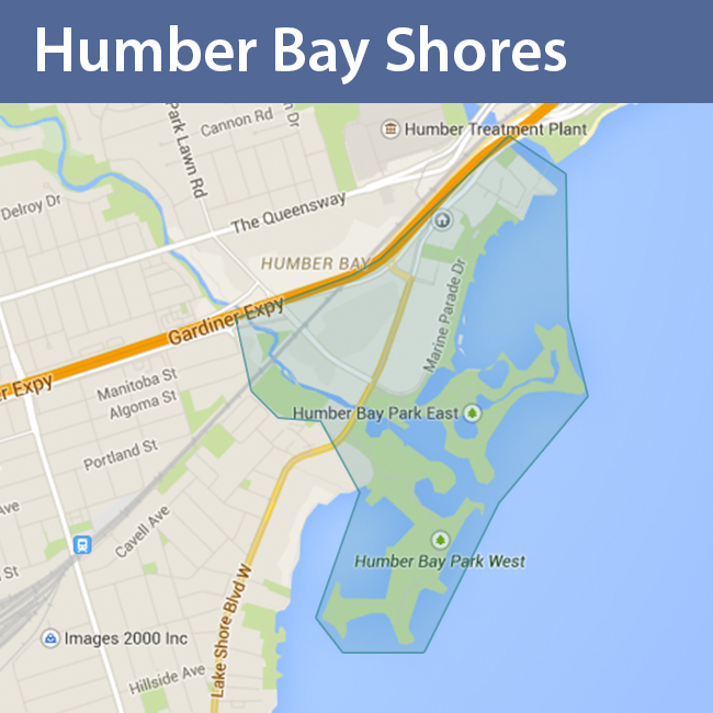 Humber Bay Shores_map