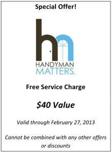 Handyman Matters Coupon