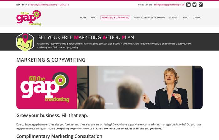 Marketing Info Page