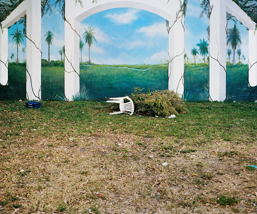 "Chair Mural , 2014, archival inkjet print (photograph taken in Miami, Florida, 2009), 20""x 24"" (50.8 cm x 61 cm)"